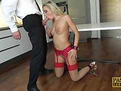 Business impoverish loves fucking his slutty trophy wife Victoria Pure