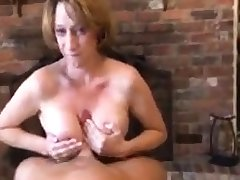 Nice Mature Mega Chest Busty Give Blowjob