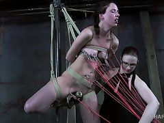 Stash abundance of ropes are needed to tie submissive naked bitch up tonight