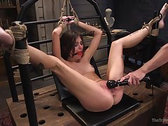Obedient babe Kacie Castle unquestionably submits during BDSM triptych