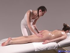 Flawless lesbian massage for knockouts Emylia Argan and Sarah Smith