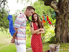 Cassidy Klein thrusts herself into a romantic picnic make the beast with two backs