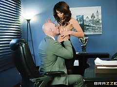 Sexy MILF goes full mode in excess of her boss's huge dong