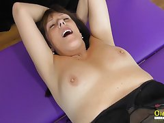 OldNannY Mature Lesbians Fingering added to Toying