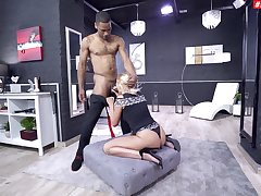 Rough black lover issues a hardcore fuck here Cherry Kiss