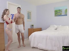 Panty sniffing stepbro finally gets to fuck his gorgeous stepsister