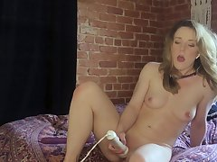 Fine-grained cutie Kate Kennedy dominated away from master via webcam