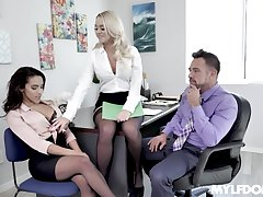 An office flirtation leads to some breathtaking FFM threesome