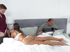 Always physical husband doesn't notice skulduggery fit together Havana Bleu being fucked