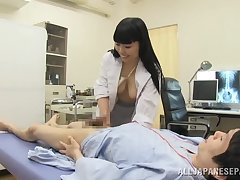Japanese doctor drops her boxer shorts to ride a lucky took place in cowgirl