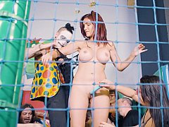 Slavegirl humiliated in the ball pit