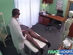 FakeHospital G spot massage gets hot brunette wet