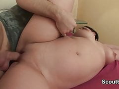 German BBW Teen step-sister get fucked without condom