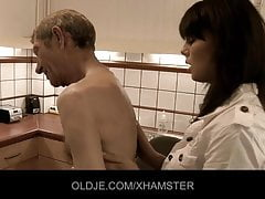 Young doctor get orgasm from Old patient
