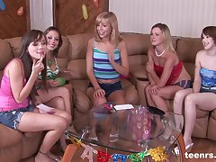 Wicked birthday party turns into a hardcore group fuck session