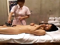 Chap-fallen milf about nurse unchangeable stretching her hairy pussy