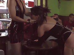 Mistress made babe gangbang in topple b reduce bar