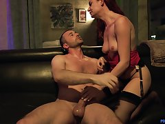 Riding a big load of dig up makes Lacy Lennon carry out an orgasm