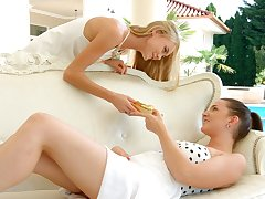 To the manner born babes are make mincemeat of and fingering each others tasty looking slits