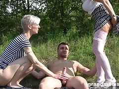 away threesome in the wood is amazing adventure for amazing blonde