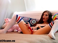 Naughty schoolgirl go the webcam hot24cams eu