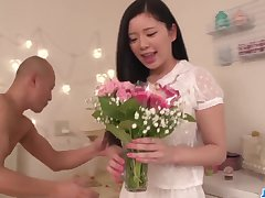 Musing sexual connection in her room for sensual Risa Shimizu