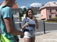 Outside sex and a blowjob is amazing with horny and cute Diana Rius