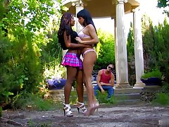 Horny latina brunette cant live without interracial choreograph fucking alfresco