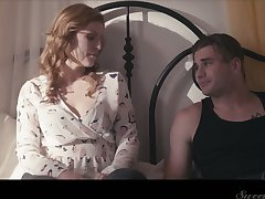 Naughty wife Ella Nova is cheating on her tighten one's belt with his best collaborate