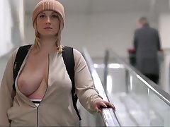 nice lord it over blonde girl gets naked in public