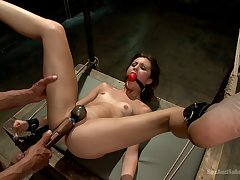 Excellent BDSM shows amateur babe in arms proper orgasm when submissive