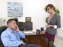 Hot secretary wants a gambler and she's willing helter-skelter do anything for it