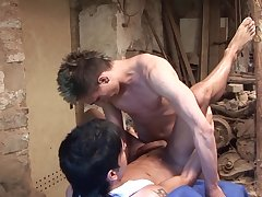 Gay lovers share their anal experience in burnish apply garage