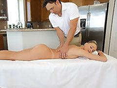 Emma Hix gets a massage and cock
