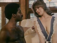 Retro interracial porn with mature spliced Christy Canyon and a BBC