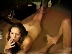 Hot previously to carla inserting stocking getting pulled late